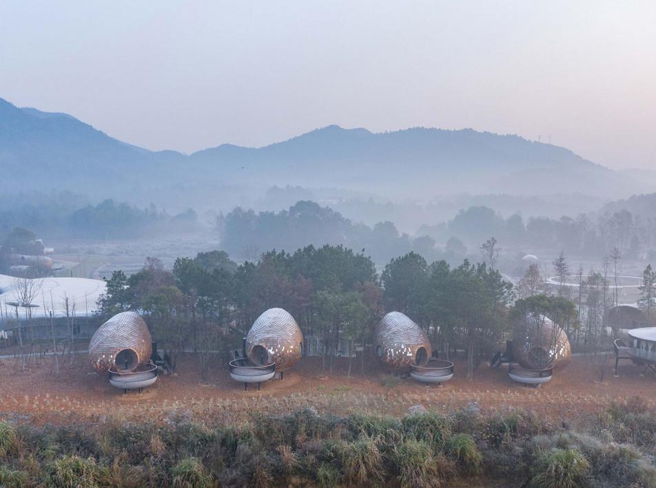 ZJJZ: гостевые дома с зеркальной черепицей в Китае