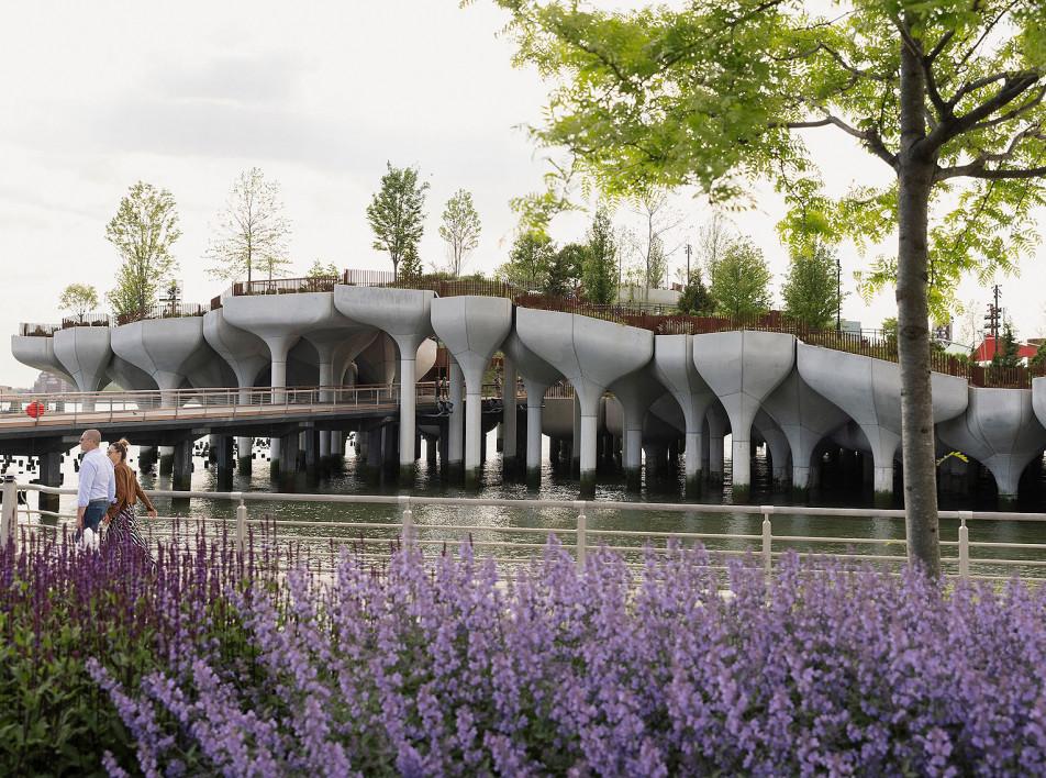 Парк Little Island по проекту Томаса Хизервика в Нью-Йорке