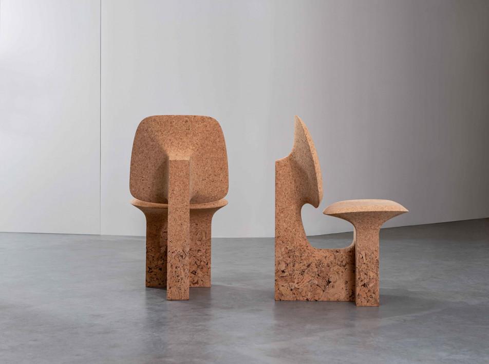 Ноэ Дюшофур-Лоранс: мебель из обожженной пробки