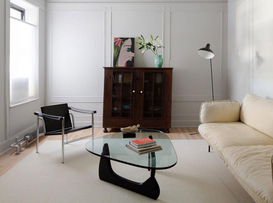 Schissel Montgomery Architects: белая квартира галериста в Бруклине