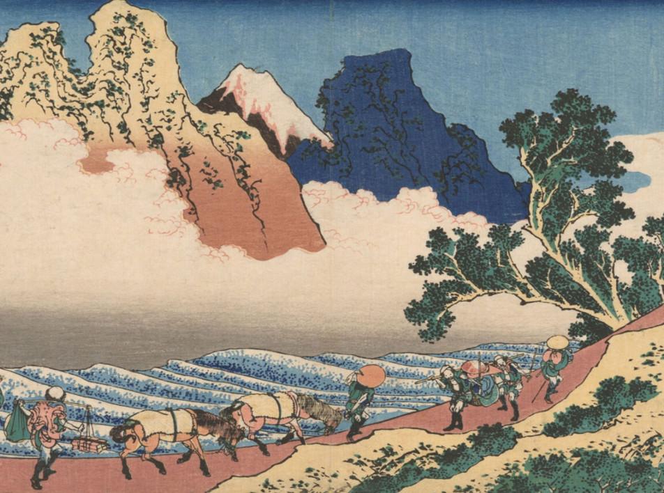 Фантастические пейзажи Хокусая и Хиросигэ
