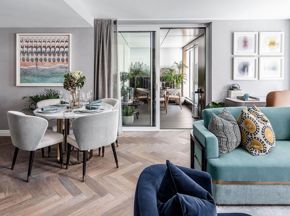 Модельная квартира в Лондоне по проекту Atellior
