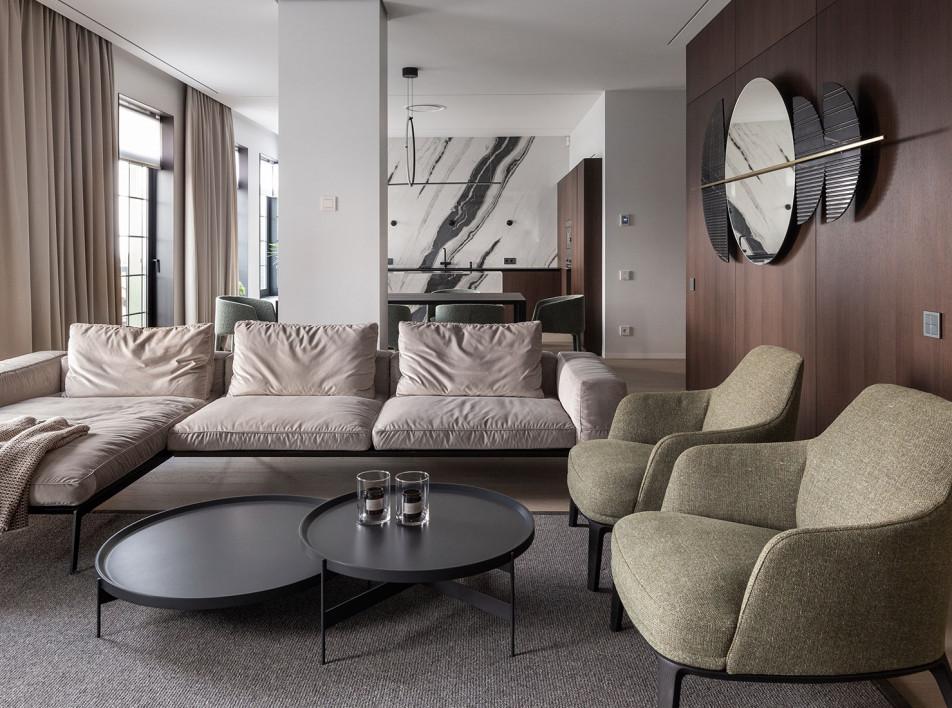 SVOYA studio: интерьер квартиры площадью 164кв. метра в Днепре