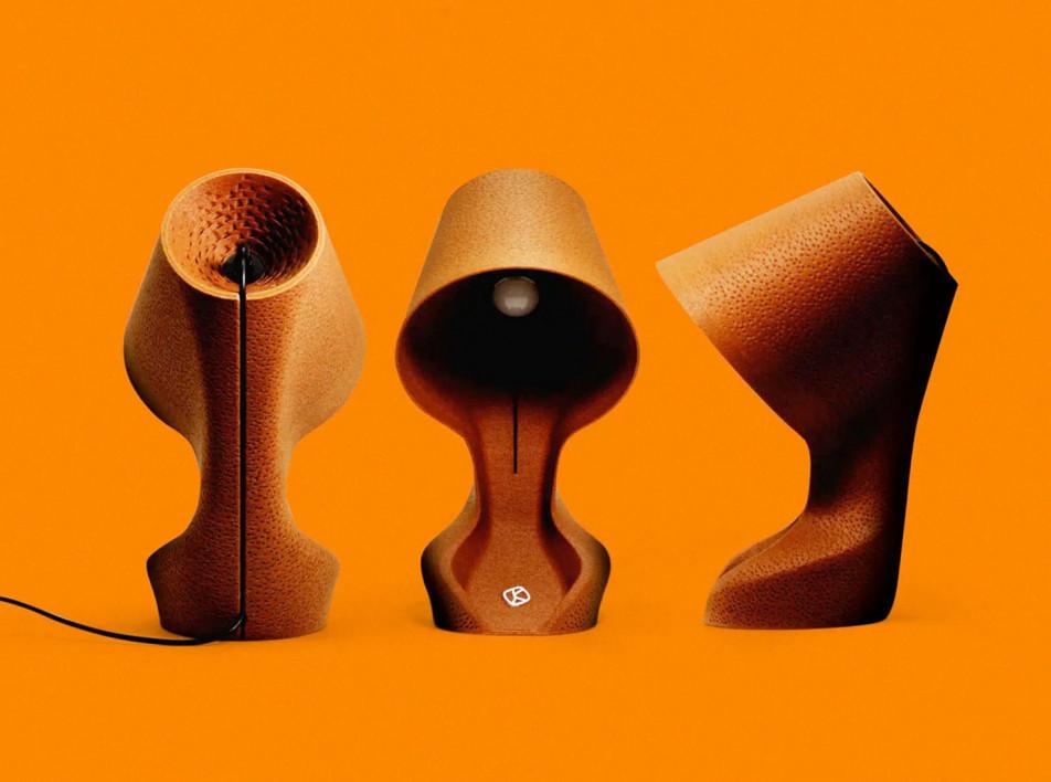 Krill Design: лампа из апельсиновой кожуры