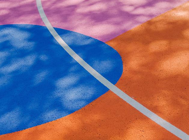 Баскетбольная площадка как арт-объект