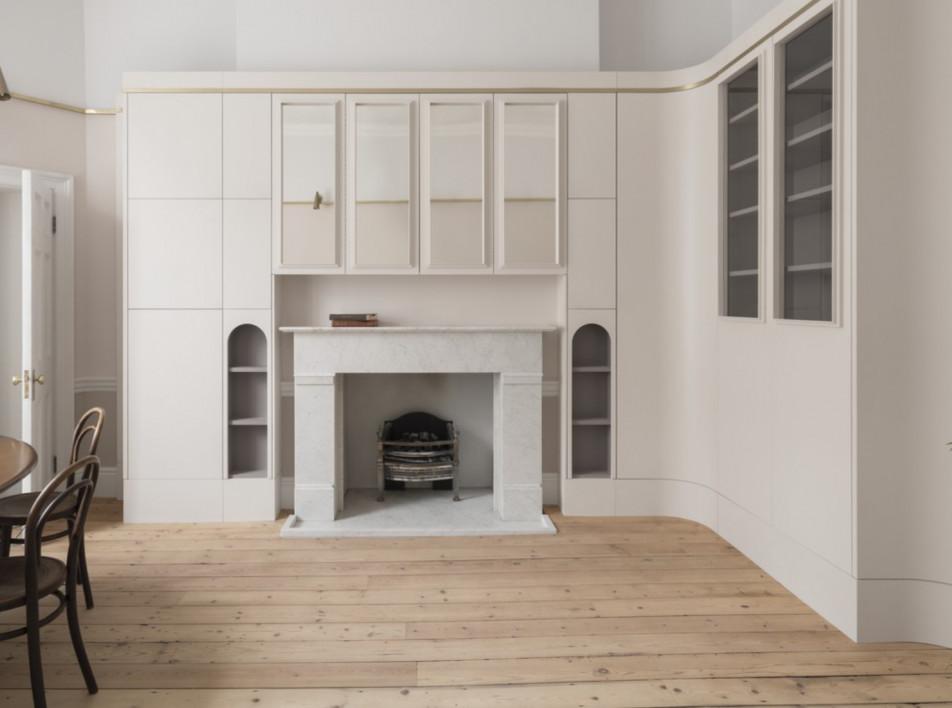 Jonathan Tuckey Design: интерьер в Мэрилебоне по мотивам итальянской живописи