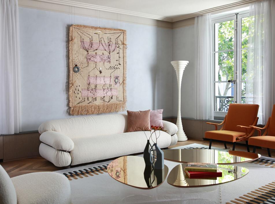 Marcante-Testa: квартира для галериста в Париже